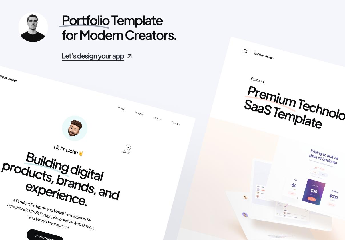 Créateur - Modèle de portfolio