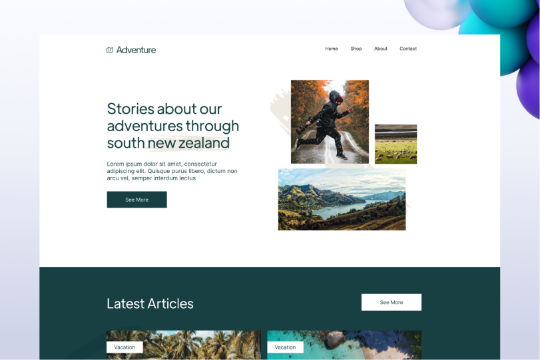 Adventure Blog Template