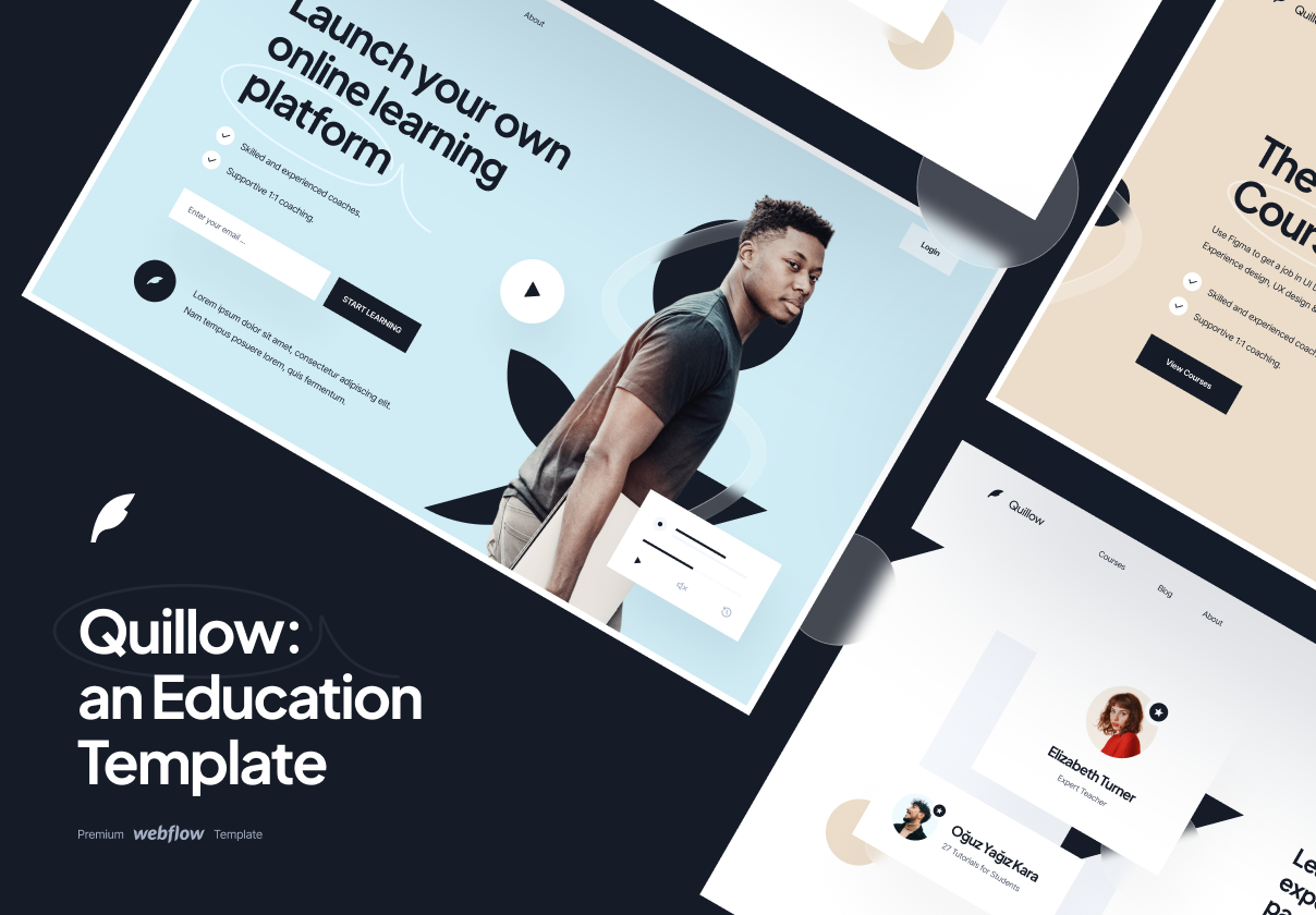 Quillow - Education Template