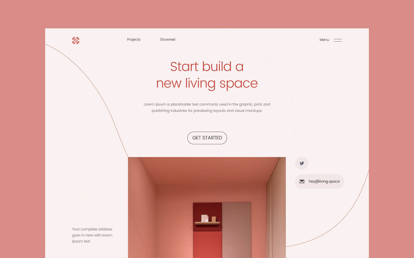 Start building your website header section with this creative and unique component