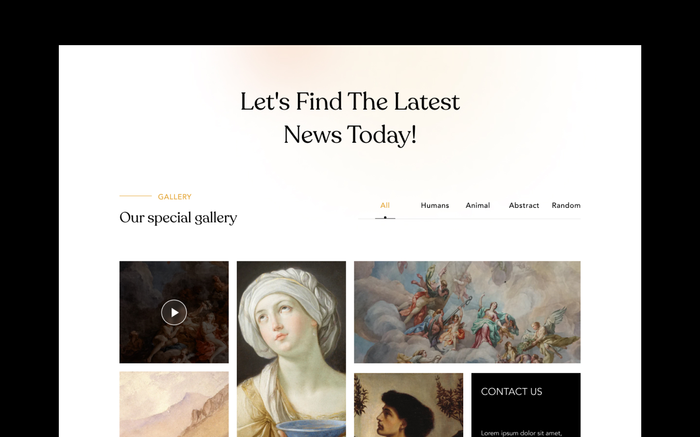 Grid based gallery section, perfect for your own product gallery, portfolio section etc