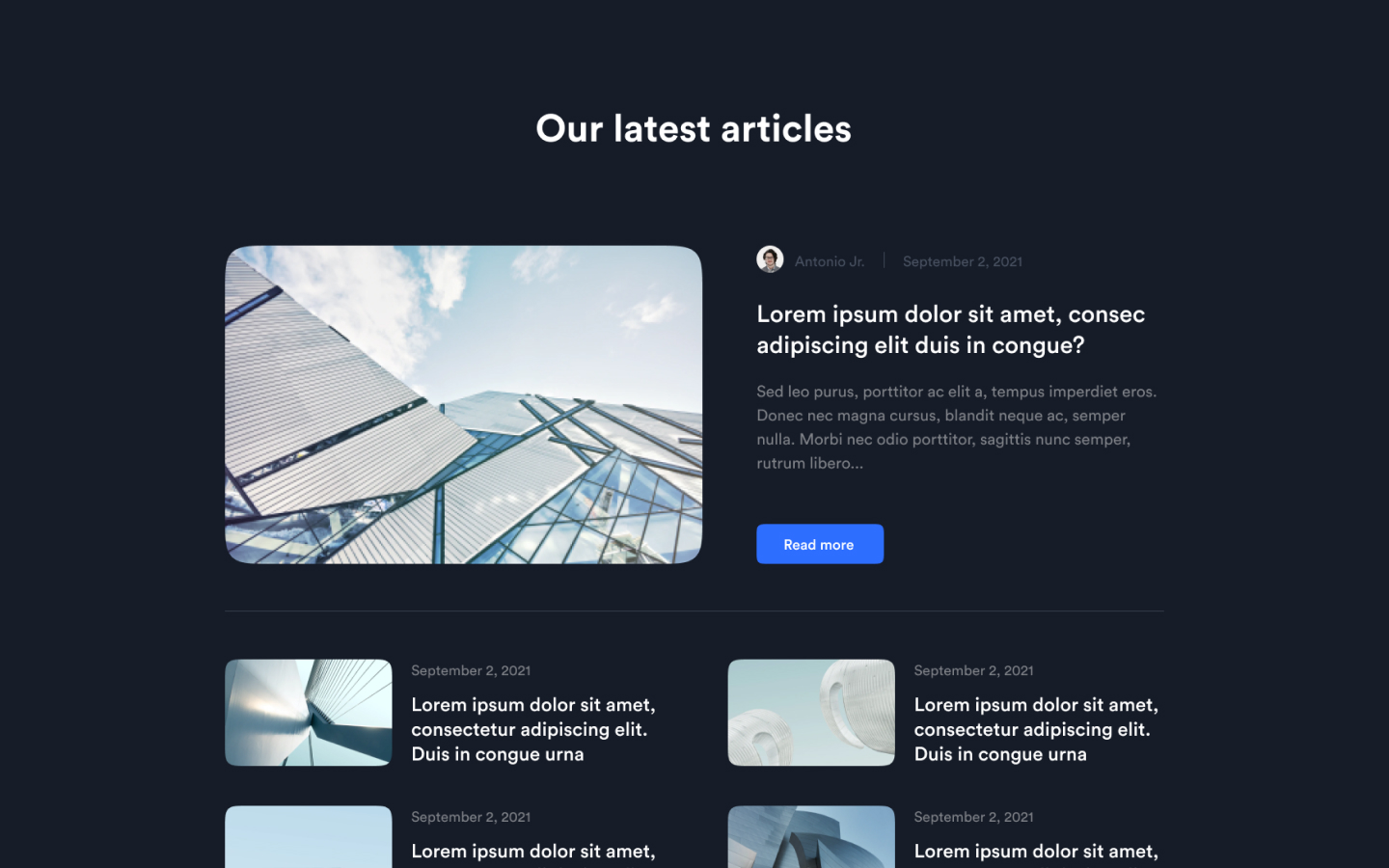 Beautiful blog component which can be easily integrated with your blog CMS.