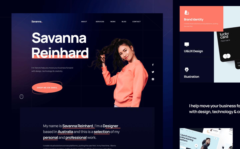 Savanna - Personal Portfolio Template