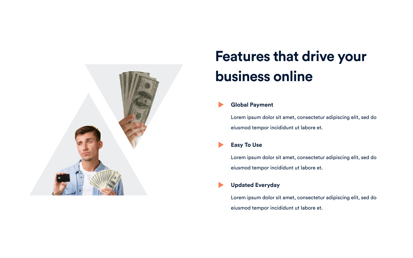 Content section built to feature and highlight specific aspects of your product/service. Add your own features to this component block!