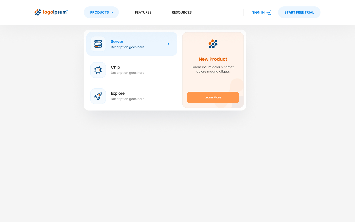 Dropdown navigation, which can be easily edited and customized to suit your unique project needs. All navigations are built to be 100% responsive on all devices.