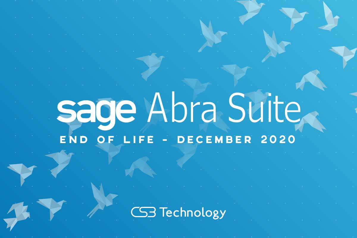 Sage Abra Suite End pf Life Announcement December 2020