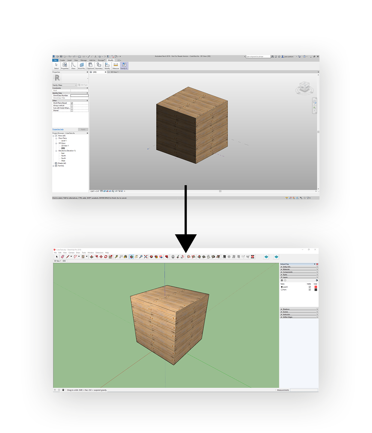 Revit to SketchUp plugin