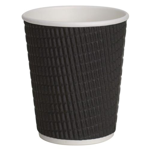 8oz/12oz/16oz Black Ripple Cups