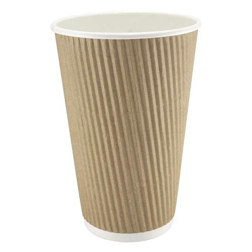8oz/12oz Kraft Ripple Cups