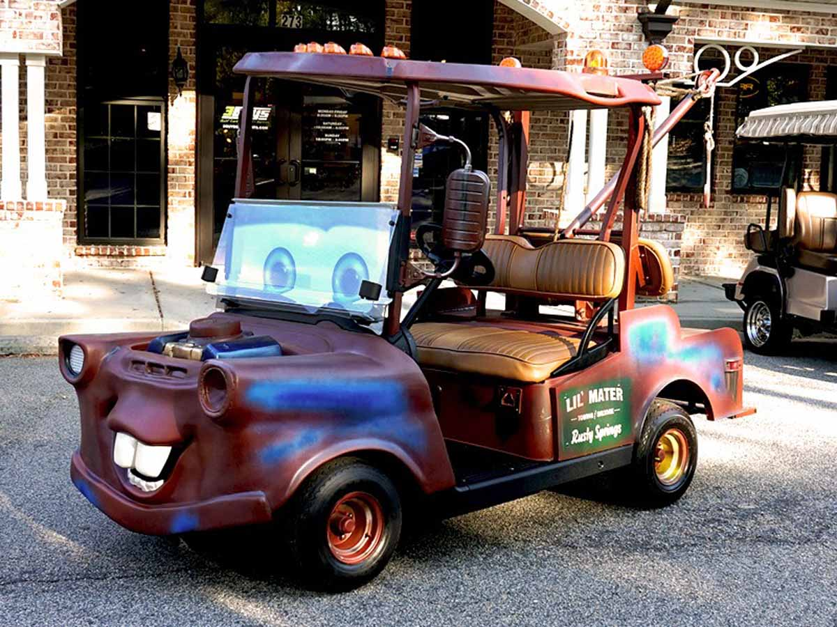 Custom Tow Mater - Golf Cart