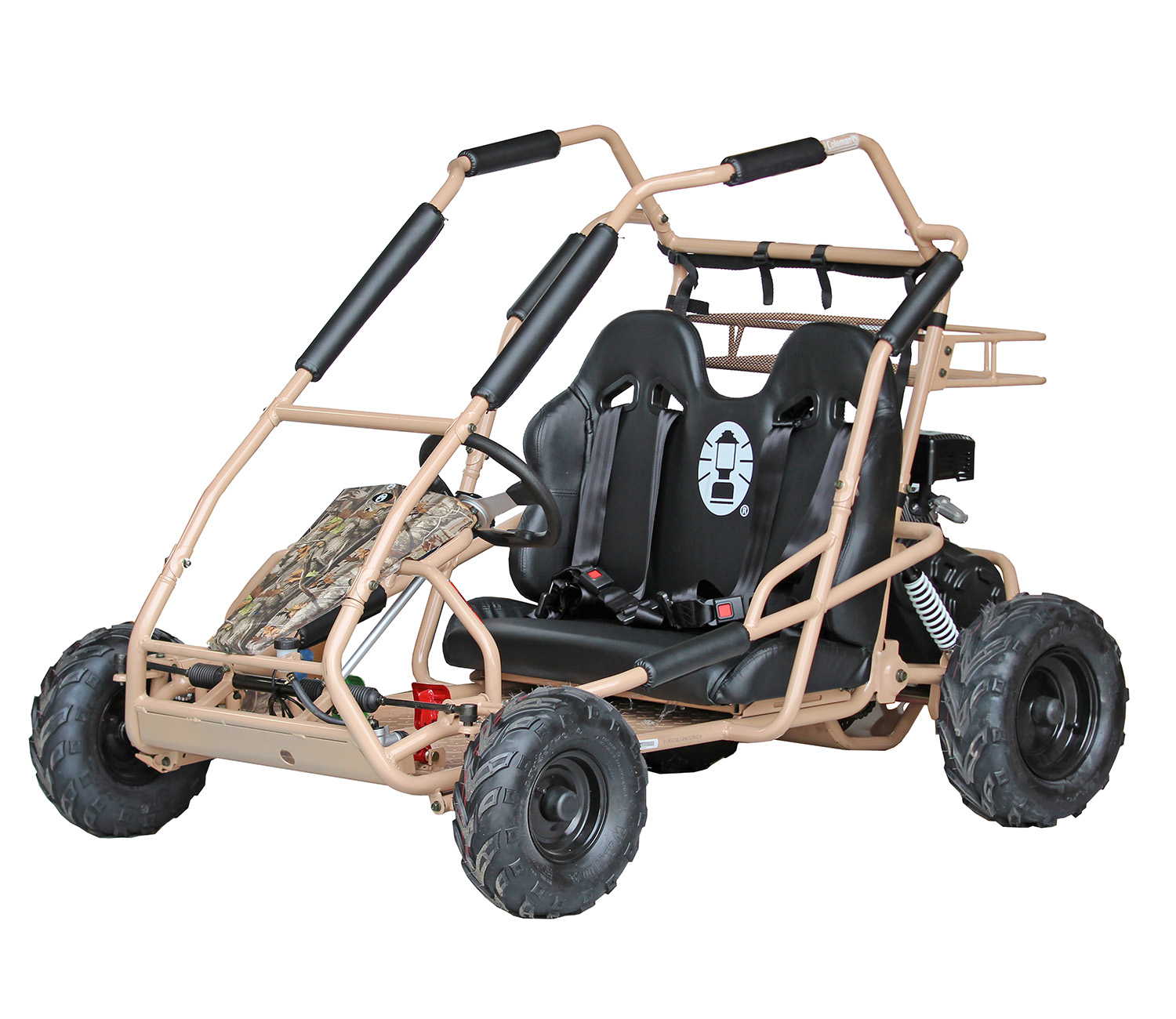Run with a friend in this camo kart. Shred trails all while being invisible! Sort of...