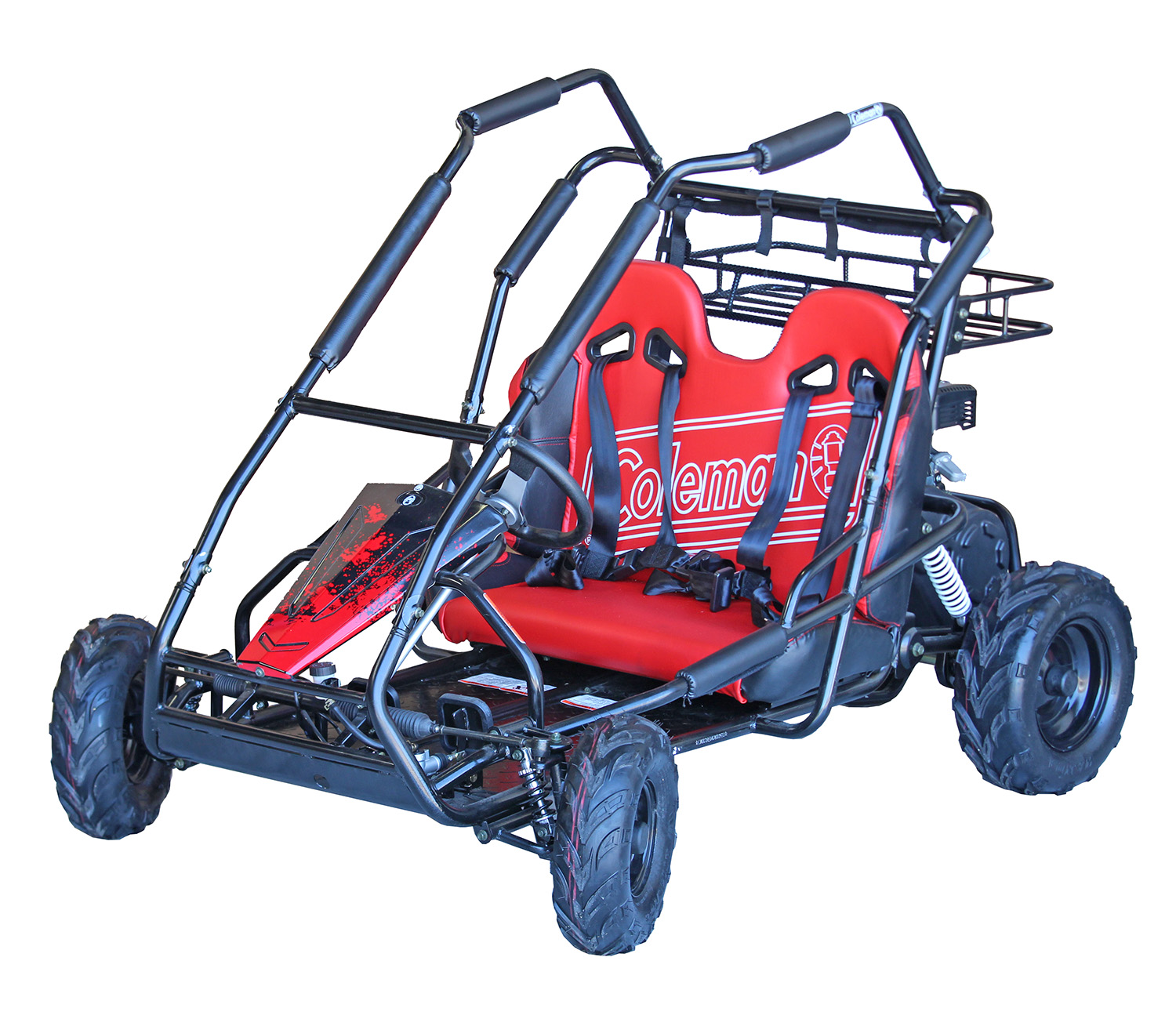 The classic Coleman Powersports Go-Kart. Build to last and measured in smiles and exclamations of joy!