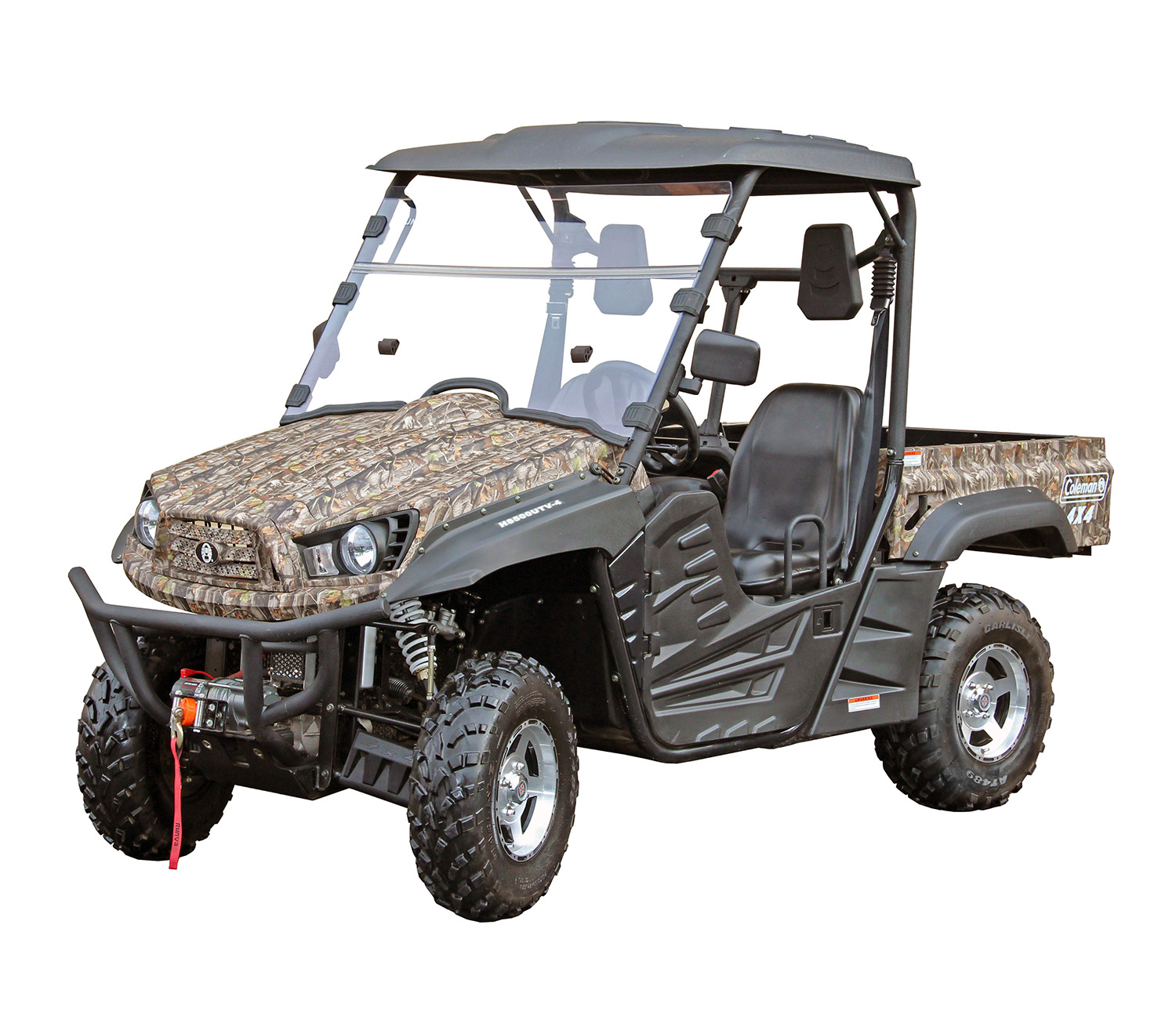 The Coleman Outfitter 500 is the perfect UTV for the common person. This ride is capable of handling just about anything you can think of. Winch Included.