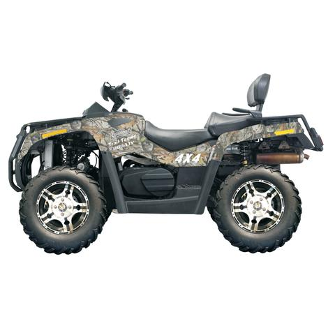 Our most powerful ATV really is sure to tame trails. Power is not lacking in this 800cc ATV. Winch Included.