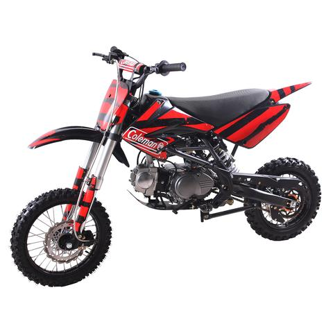 The Coleman 125DX is a reliable, affordable, powerful dirt bike. Great for intermediate riders ages 14 and older.