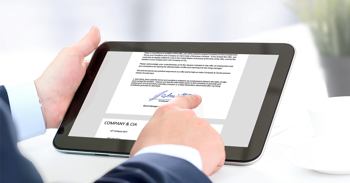 Are Electronic Signatures Legally Acceptable?