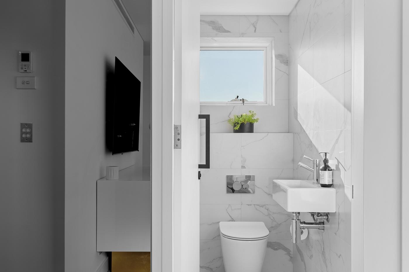 A toilet room renovation