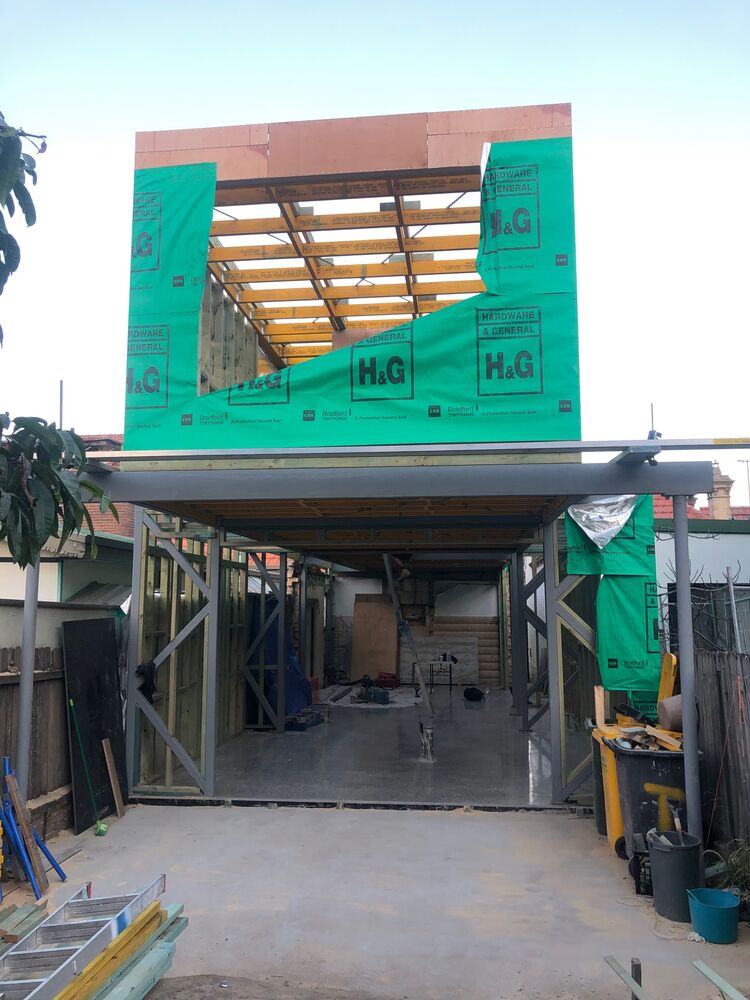 A house extension renovation