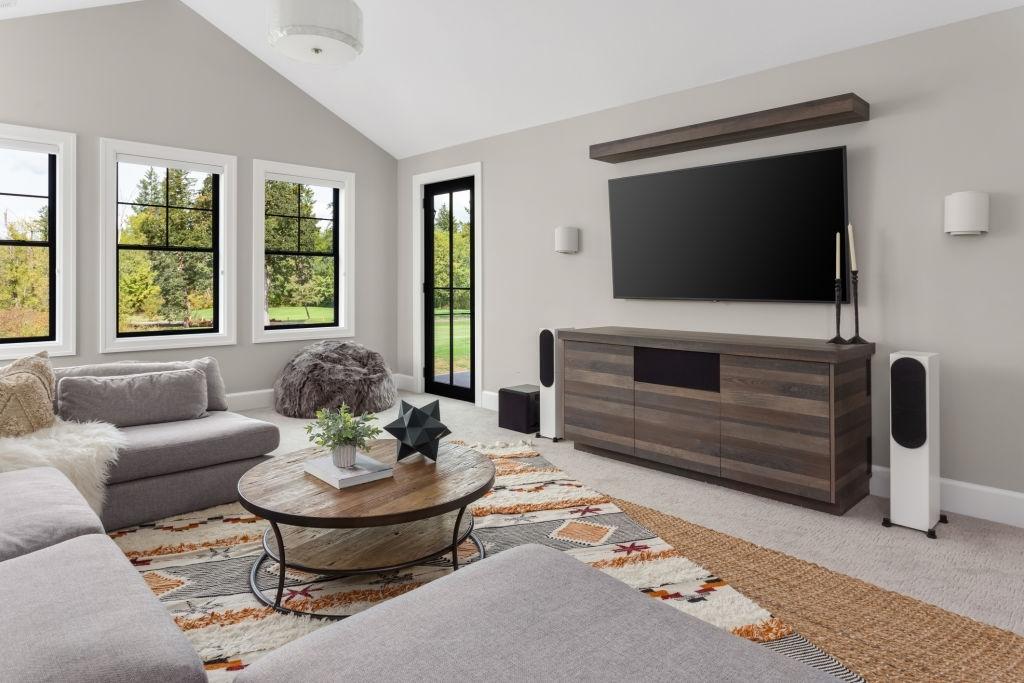 A living room renovation