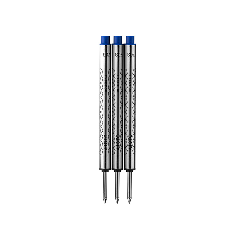 3 Pack rollerball refills blue