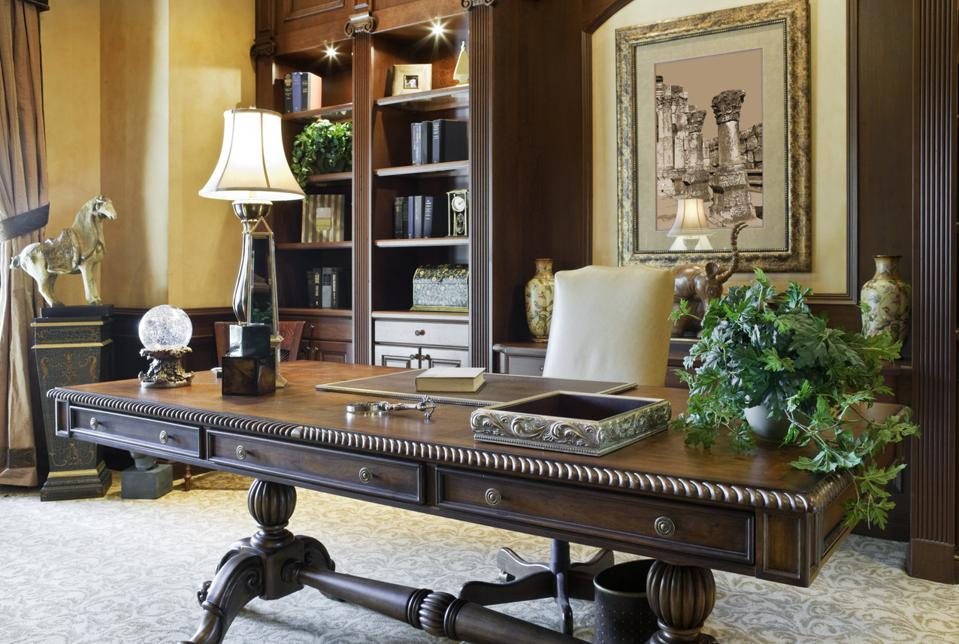 Executive Desk in a Beautiful Home Office