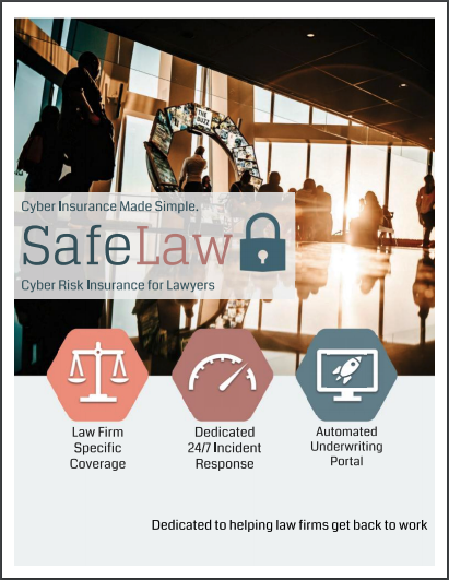 SafeLaw Cyber Risk Insurance for Lawyers Cover Image