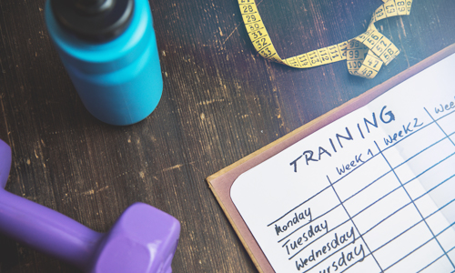A training schedule planned ahead of time helps make fitness a habit
