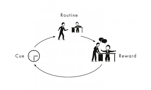 Habit loop diagram by Charles Duhigg illustrating how fitness habits are formed