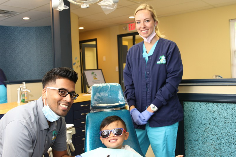 Doctor and hygienist using nitrous oxide