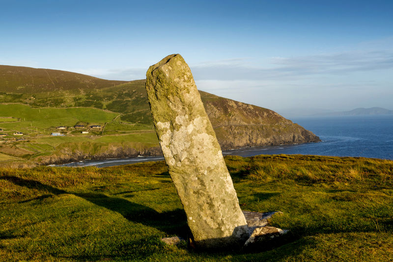 Dunmore Head Ogham Stone. The name Dovinia is carved in the inscription