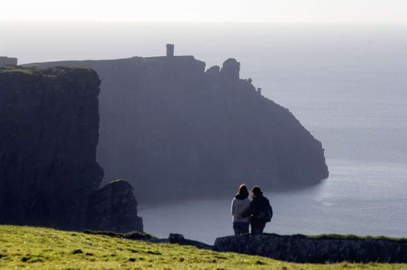Promontory fort in the distance, county Clare
