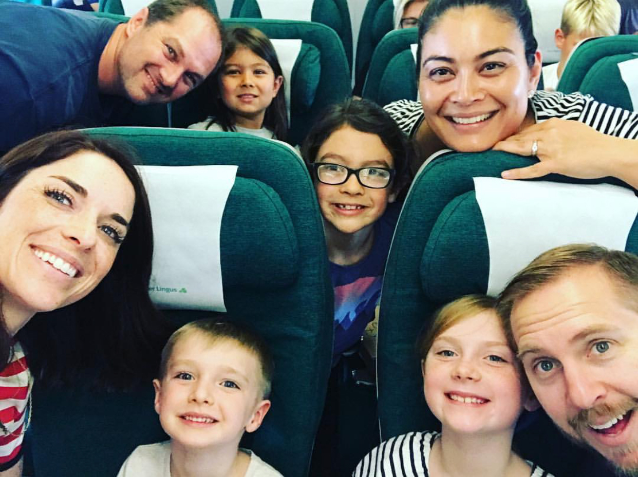 A happy family on their way home after enjoying a private tour of Ireland with Essential Ireland