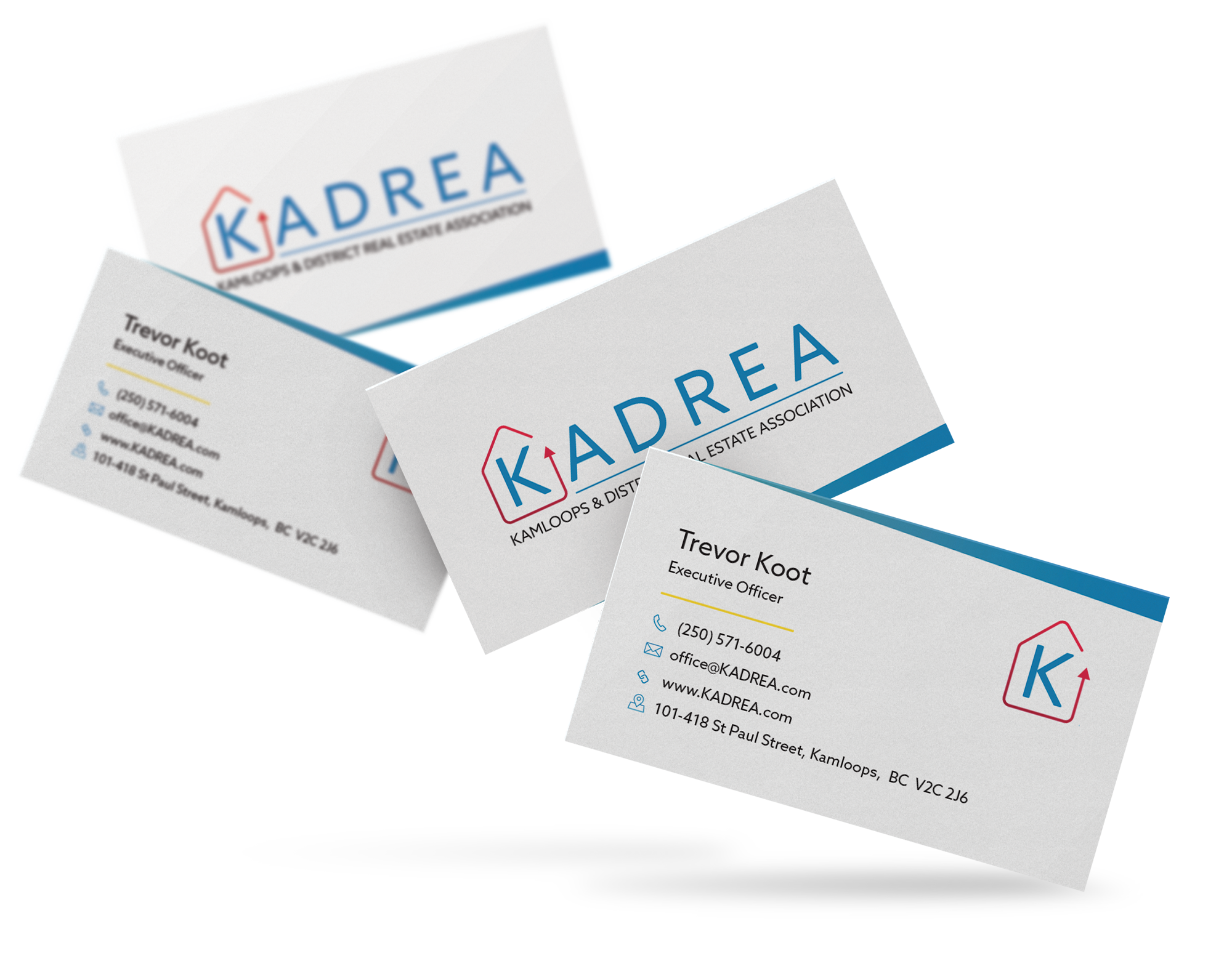 KADREA's new business card design.