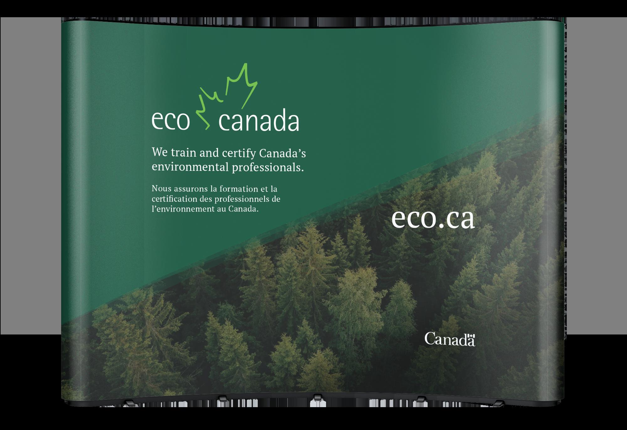 Trade show booth design for ECO Canada.