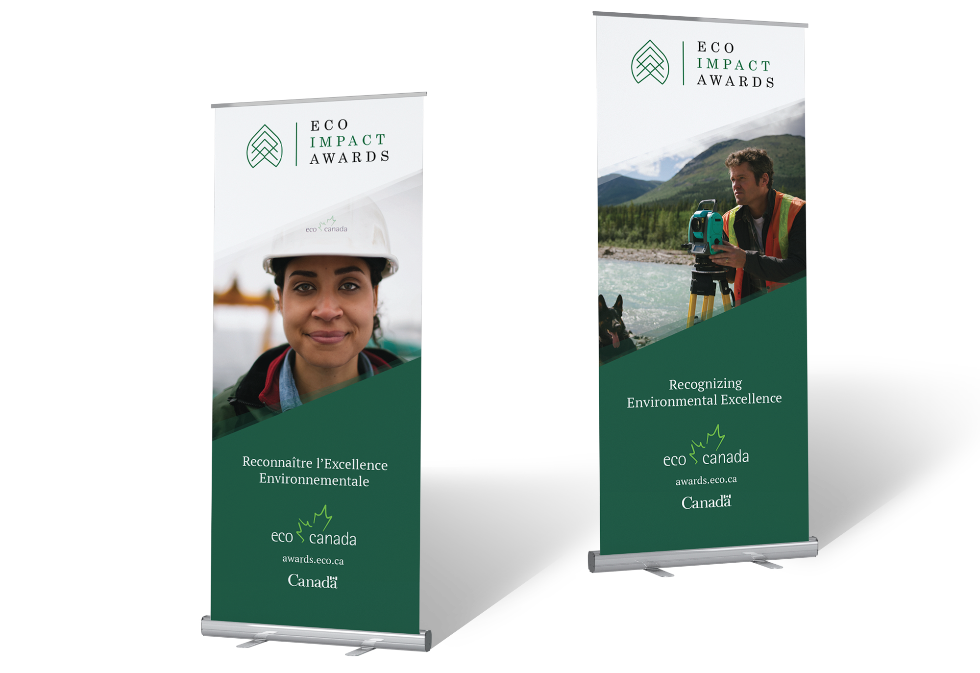 Pop-up banner design for ECO Canada.