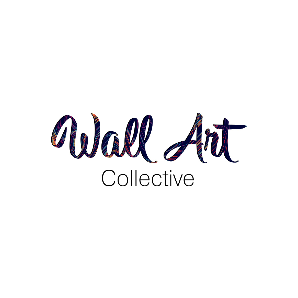 Sample image of logo design for Wall Art Collective.