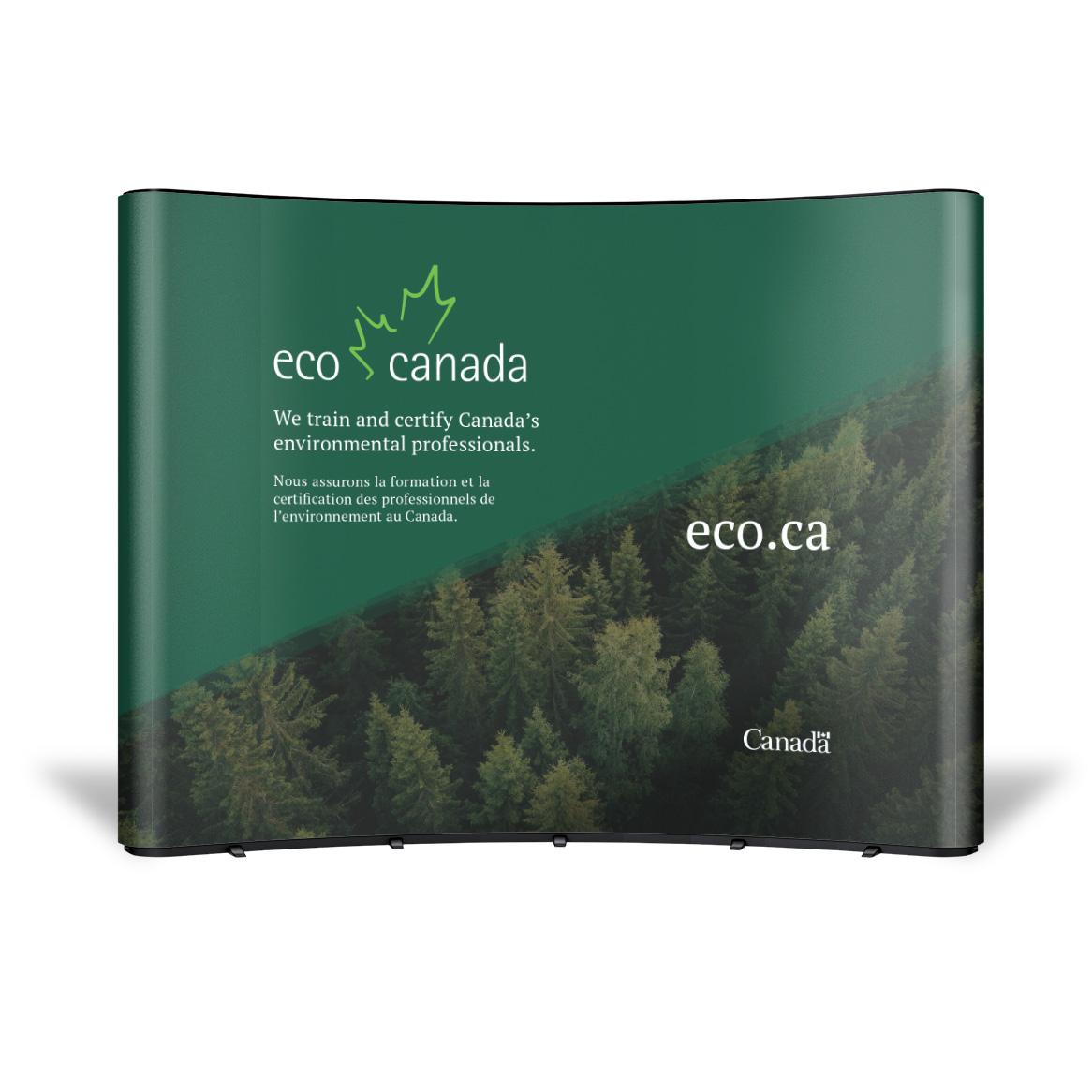 Sample trade show booth design for ECO Canada.