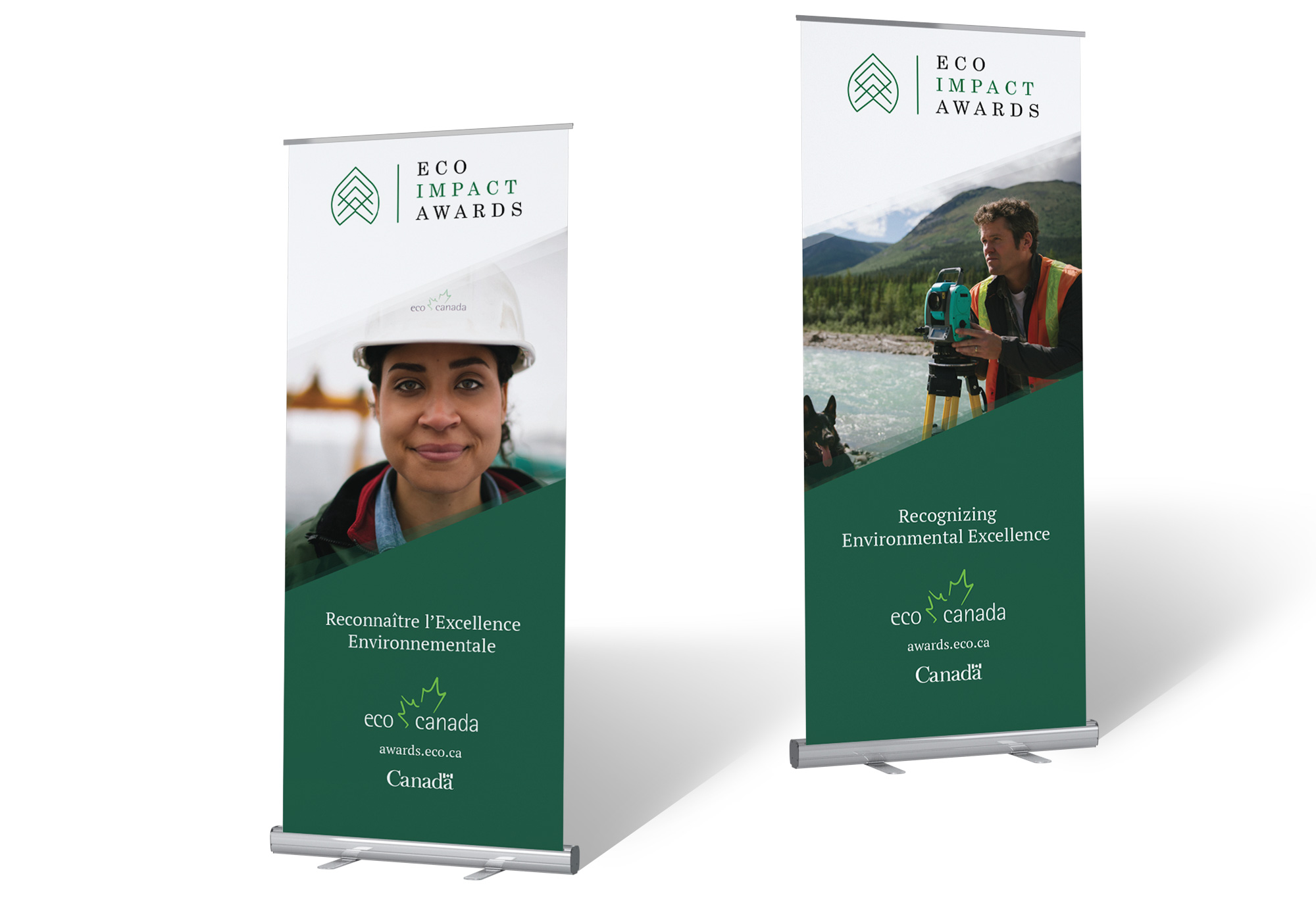 Example of pop-up banner design for Eco Canada.