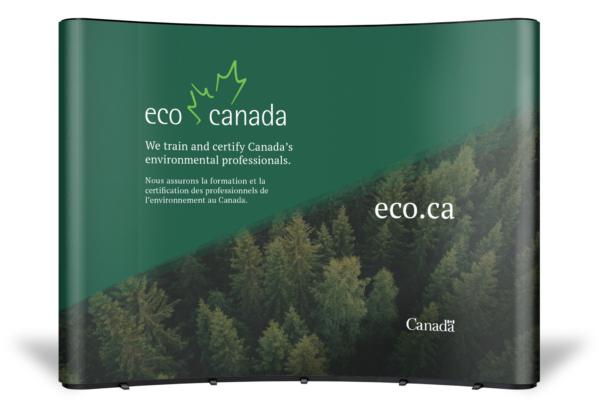 Example trade show booth design for ECO Canada.