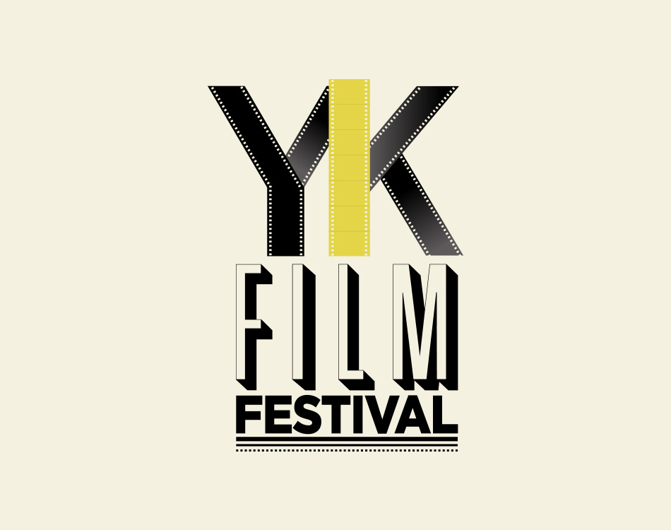 Sample image of logo design for the Yellowknife Film Festival.
