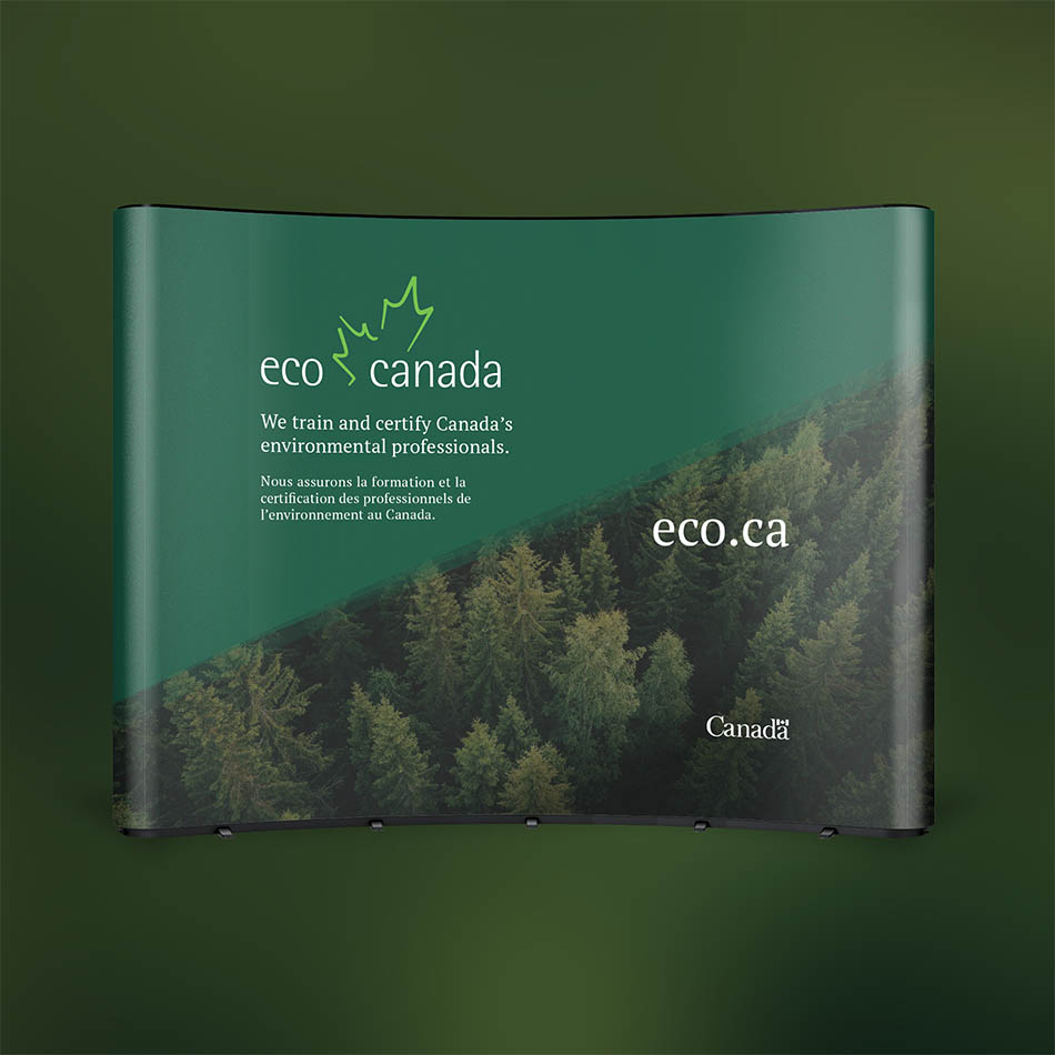 Sample trade show booth design for ECO Canada.