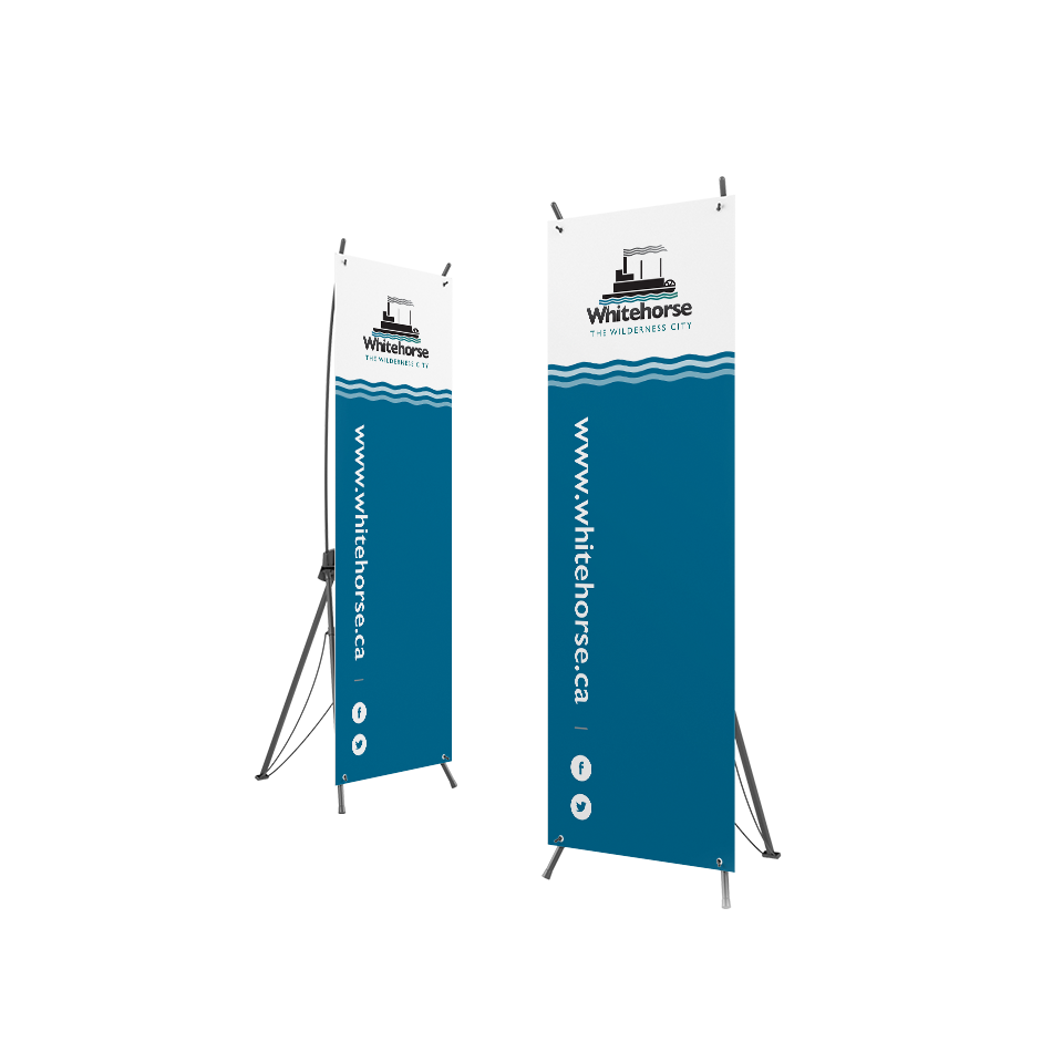 Sample of popup banner design for the City of Whitehorse.