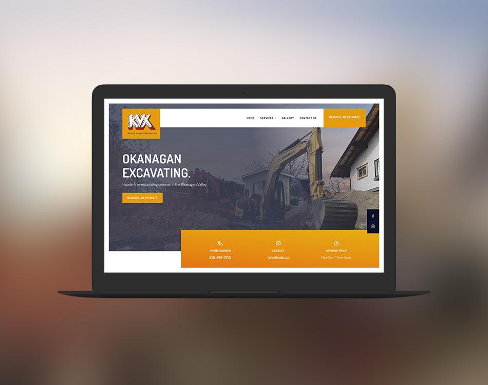 Sample of KVX's home page on desktop.