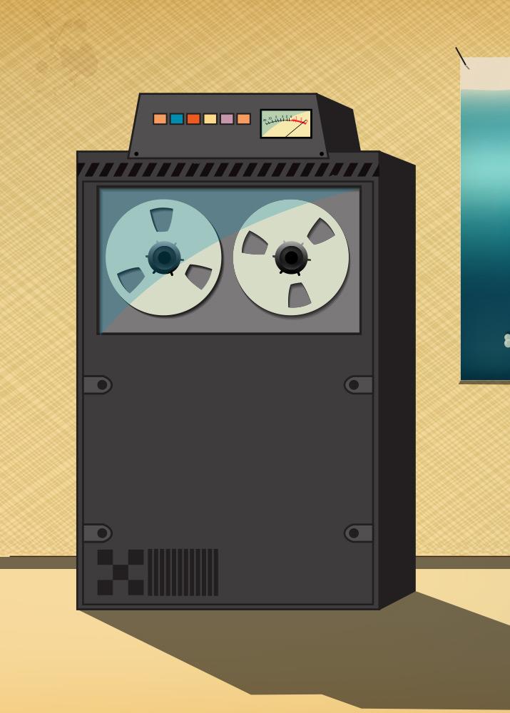 Illustration of old server.