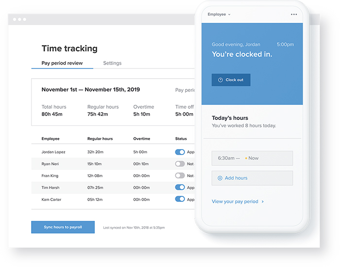 Simple time tracking