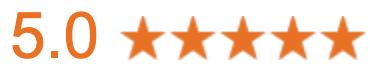5.0 star rating symbol