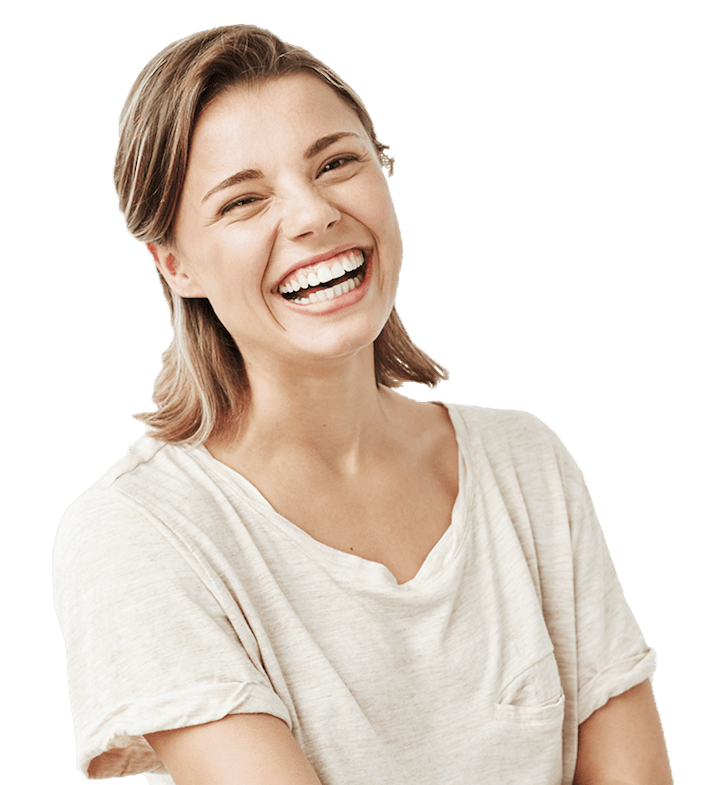 Smiling young woman from Same Day Dental