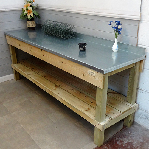 Steel Top Potting Bench