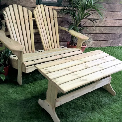 Adirondack Loveseat Table