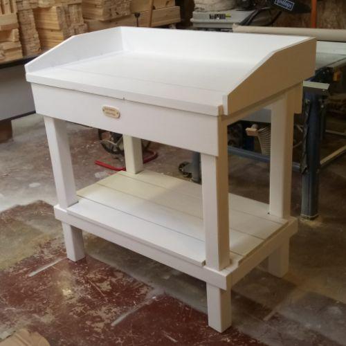 Bespoke Wooden Potting Bench